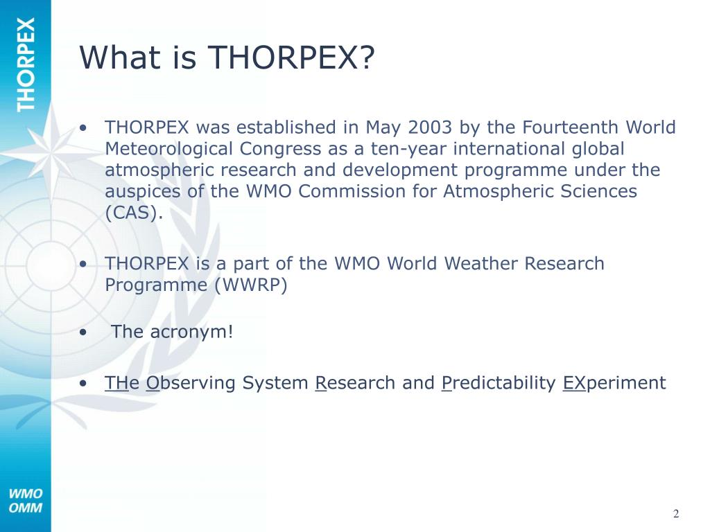 What is THORPEX?
