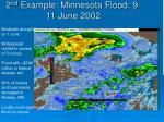 2 nd example minnesota flood 9 11 june 2002