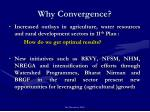 why convergence