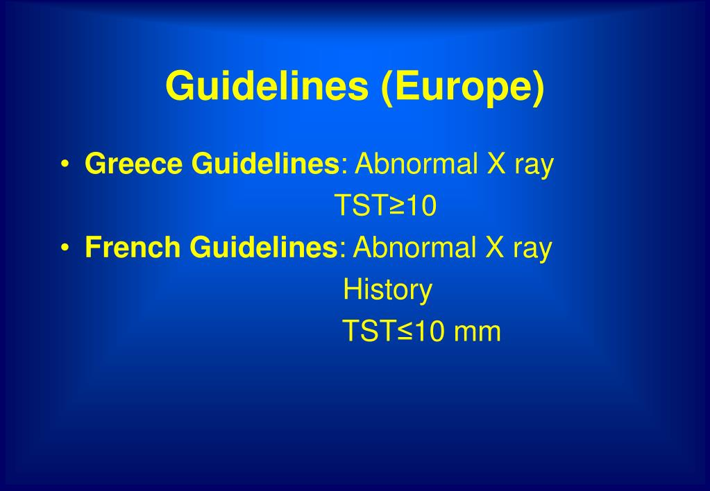 Guidelines (Europe)
