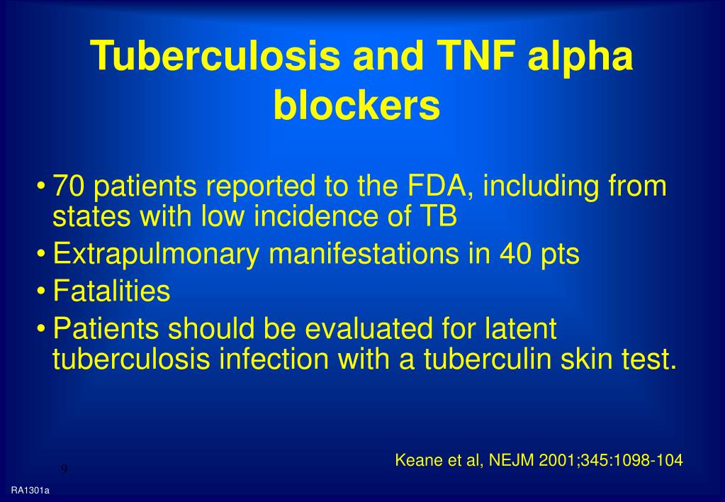 Tuberculosis and TNF alpha blockers