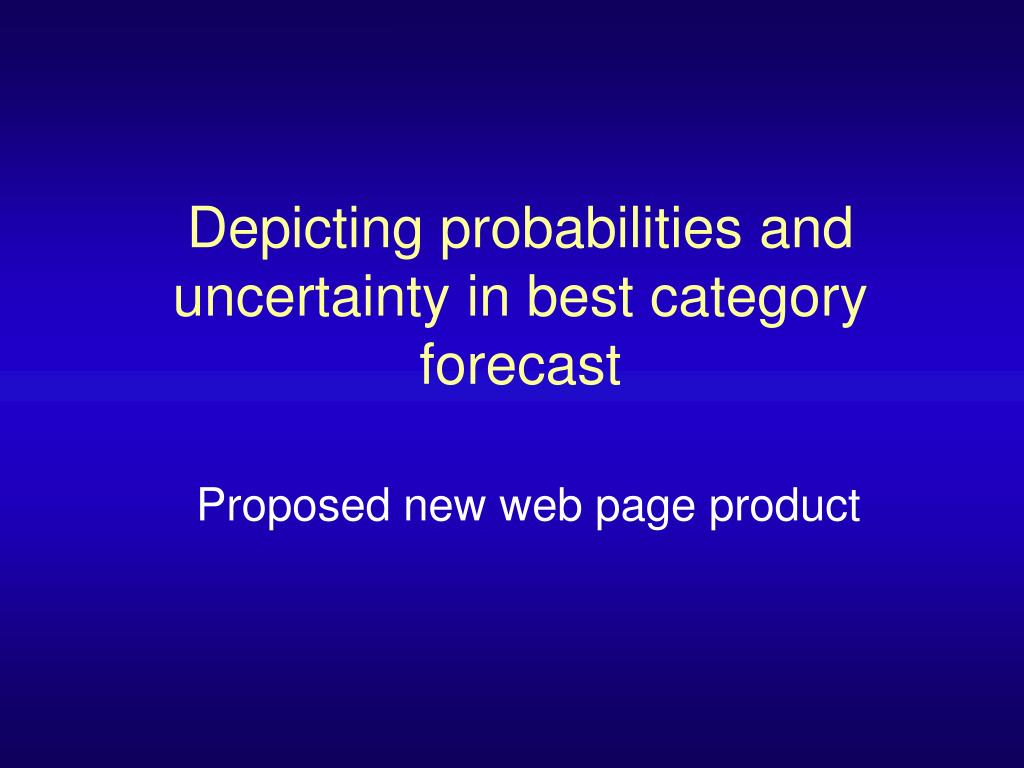 Depicting probabilities and uncertainty in best category forecast