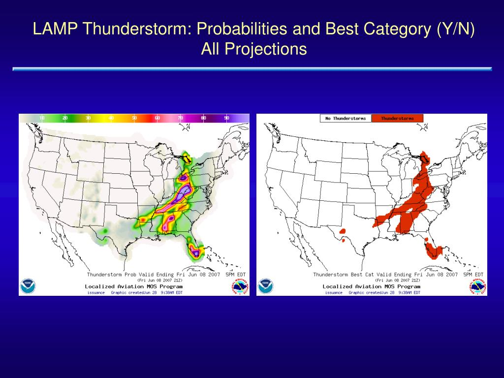LAMP Thunderstorm: Probabilities and Best Category (Y/N)