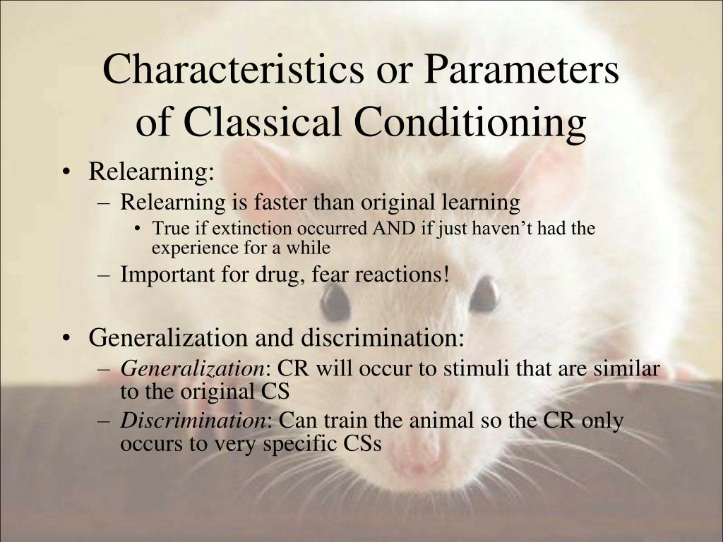 Characteristics or Parameters