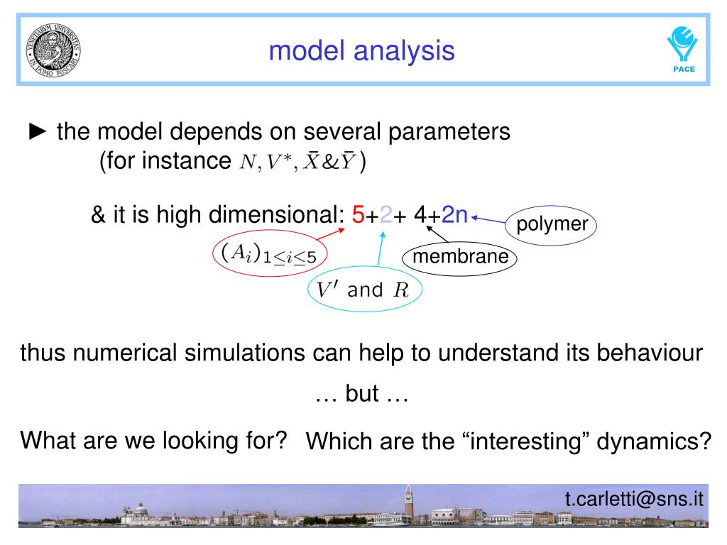 ► the model depends on several parameters