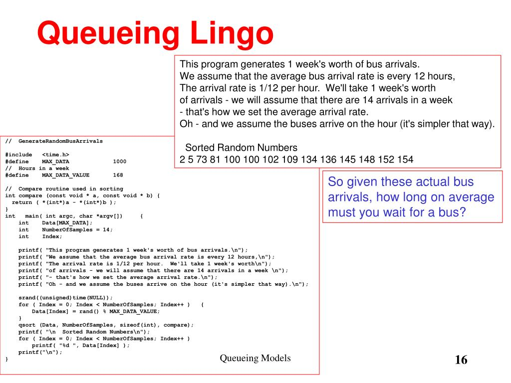 Queueing Lingo