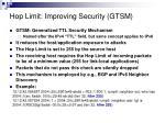 hop limit improving security gtsm