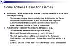 some address resolution games