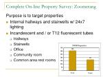 complete on line property survey zoomerang