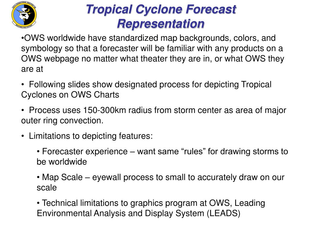 Tropical Cyclone Forecast Representation