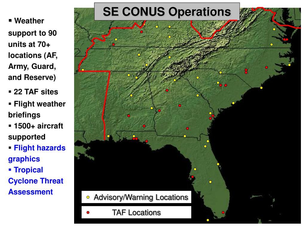 Advisory/Warning Locations