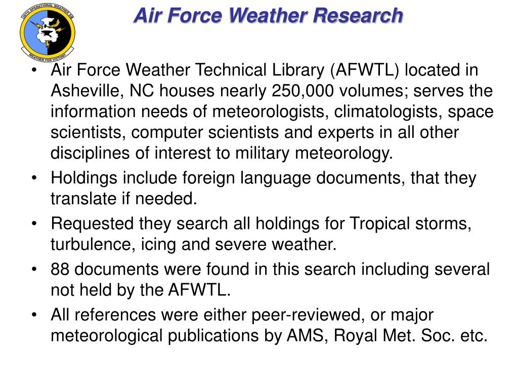 Air Force Weather Research