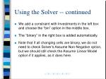 using the solver continued11