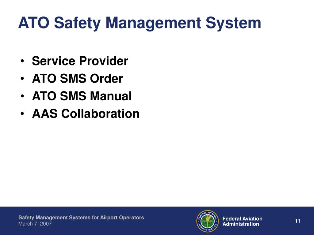 ATO Safety Management System