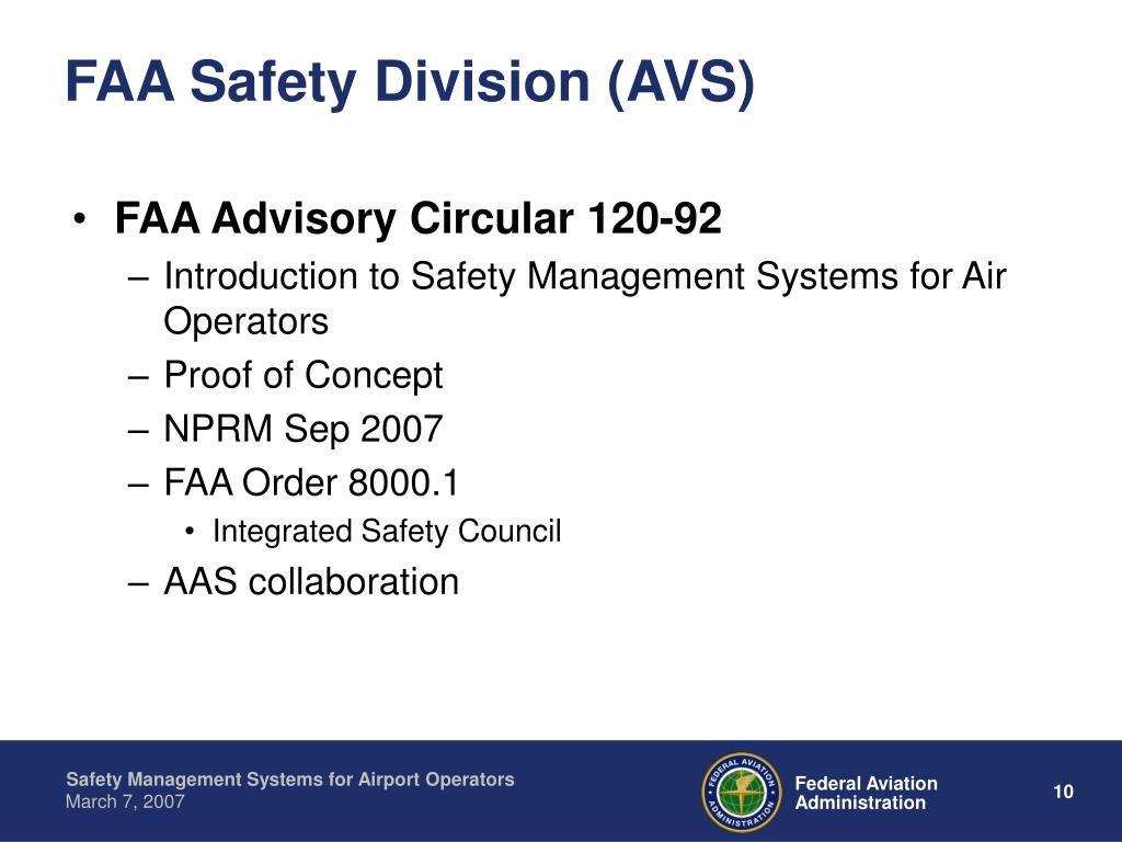 FAA Safety Division (AVS)