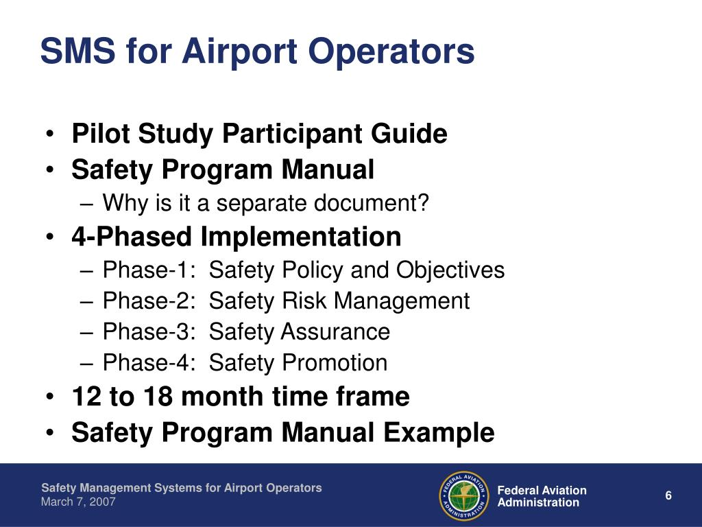 SMS for Airport Operators