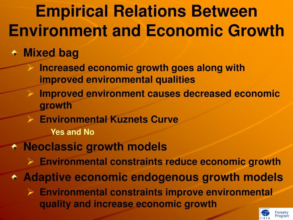 Empirical Relations Between Environment and Economic Growth
