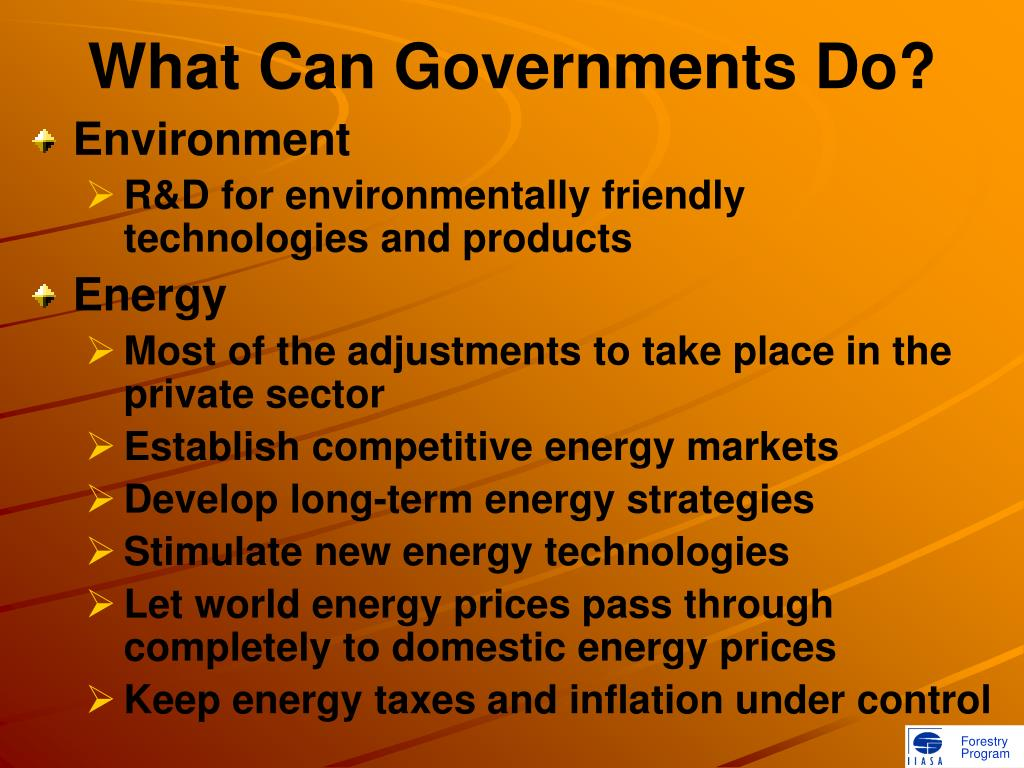 What Can Governments Do?