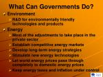 what can governments do