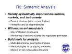 r3 systemic analysis