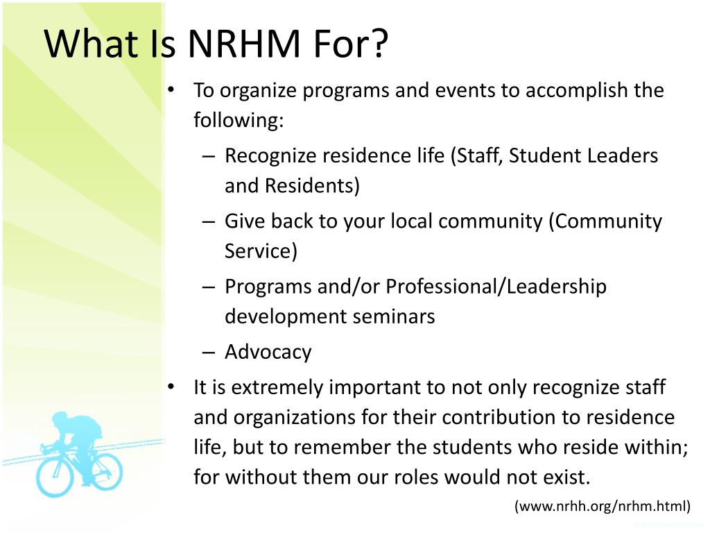 What Is NRHM For?