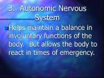3 autonomic nervous system