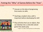 putting the why of games before the how