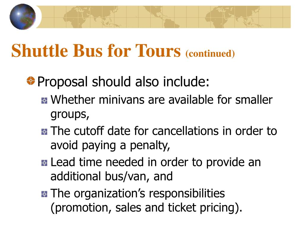 Shuttle Bus for Tours