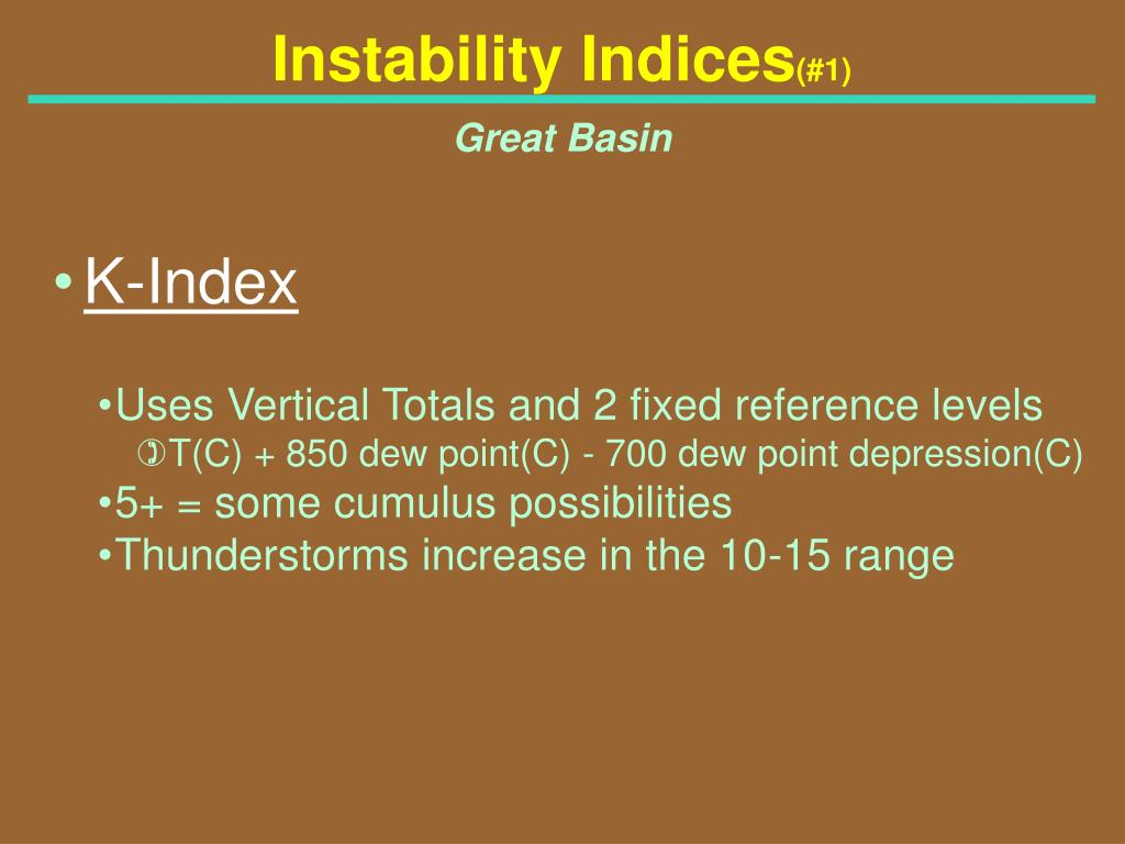 Instability Indices