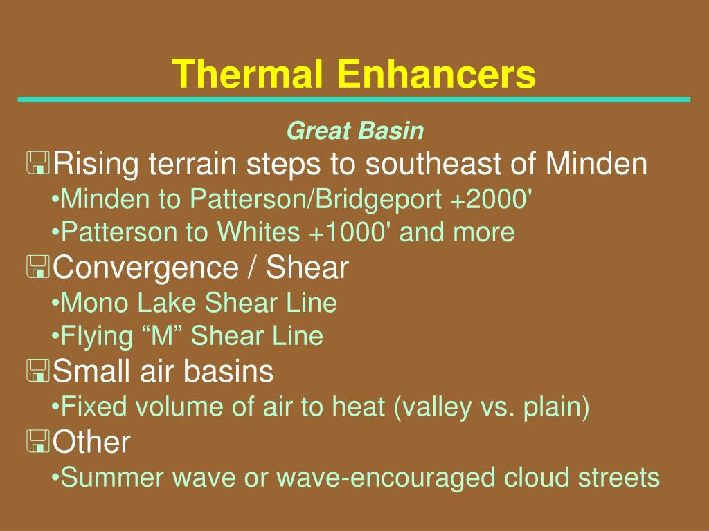 Thermal Enhancers