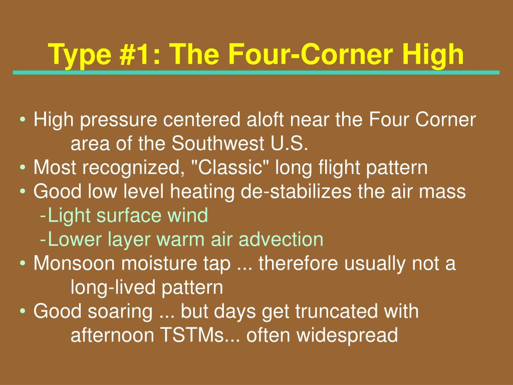 Type #1: The Four-Corner High