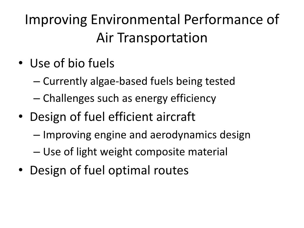 Improving Environmental Performance of