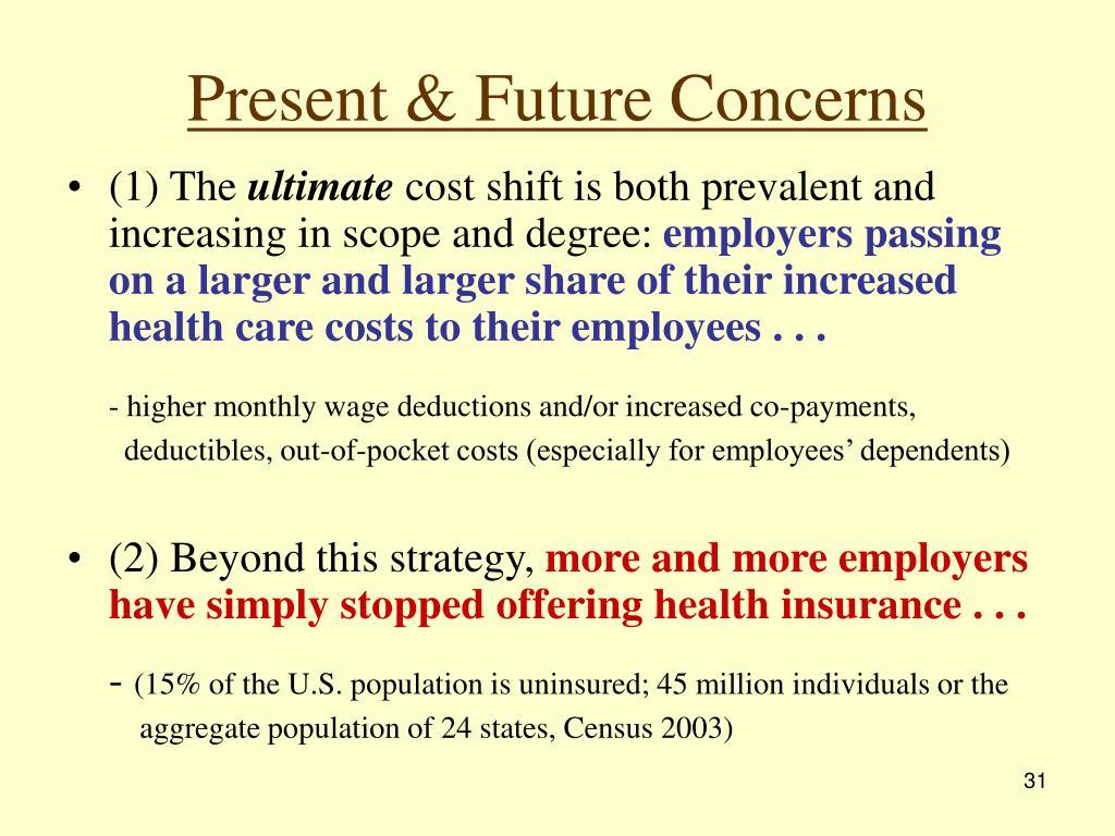Present & Future Concerns