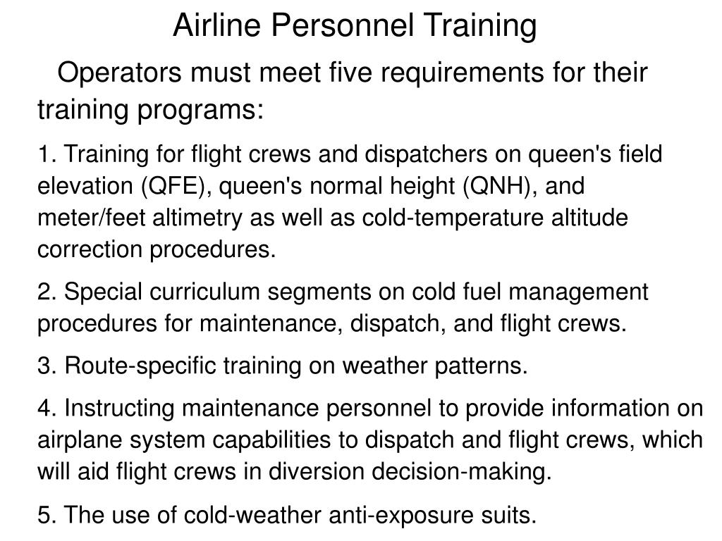 Airline Personnel Training
