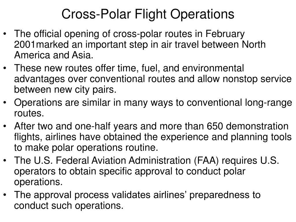 Cross-Polar Flight Operations