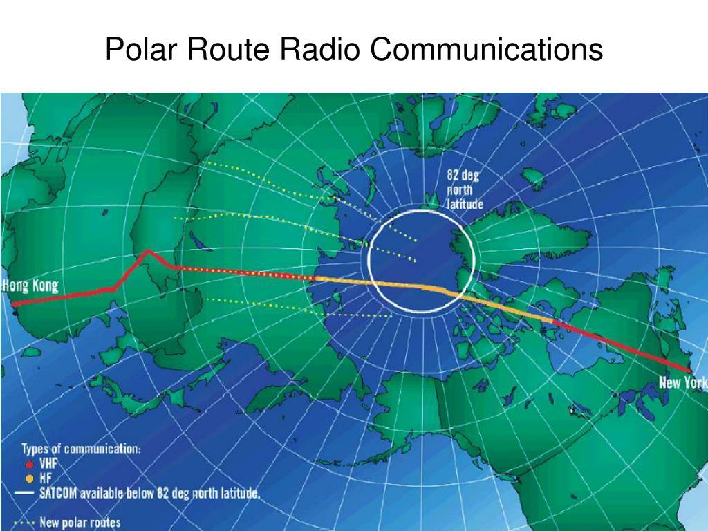 Polar Route Radio Communications