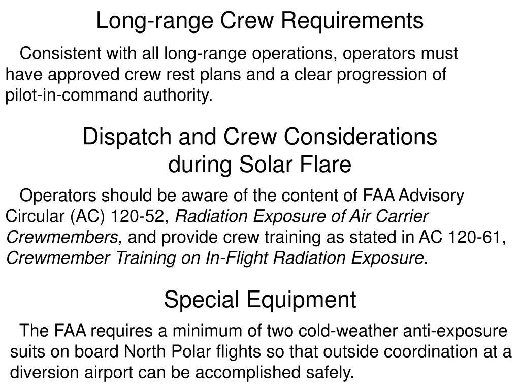 Long-range Crew Requirements
