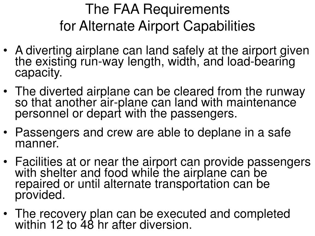 The FAA Requirements