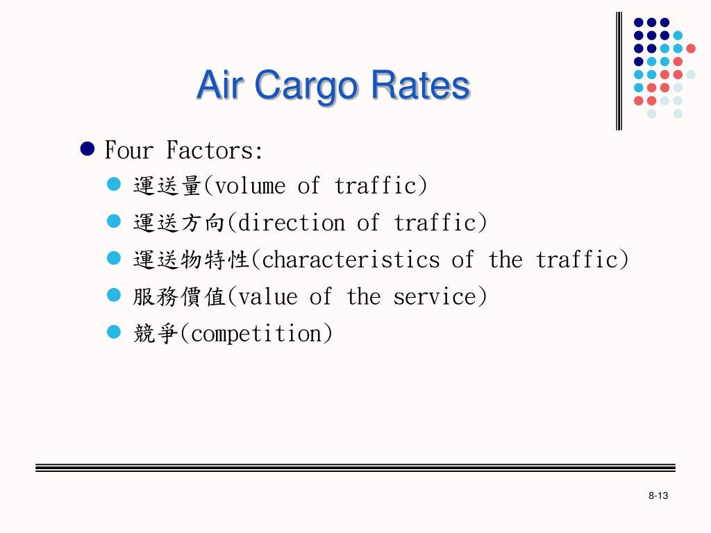 Air Cargo Rates