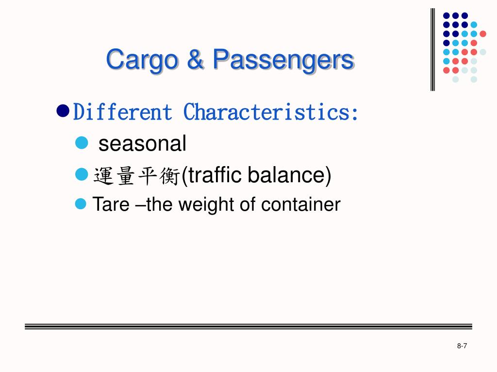Cargo & Passengers
