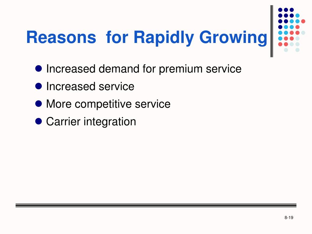 Reasons  for Rapidly Growing