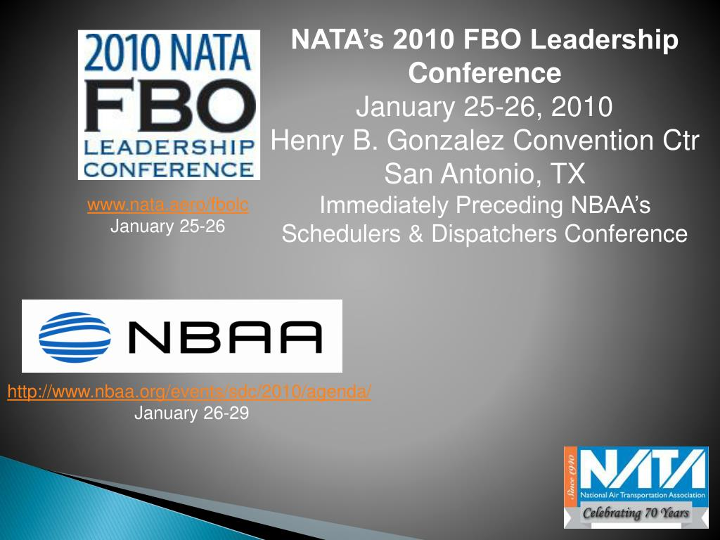 NATA's 2010 FBO Leadership Conference