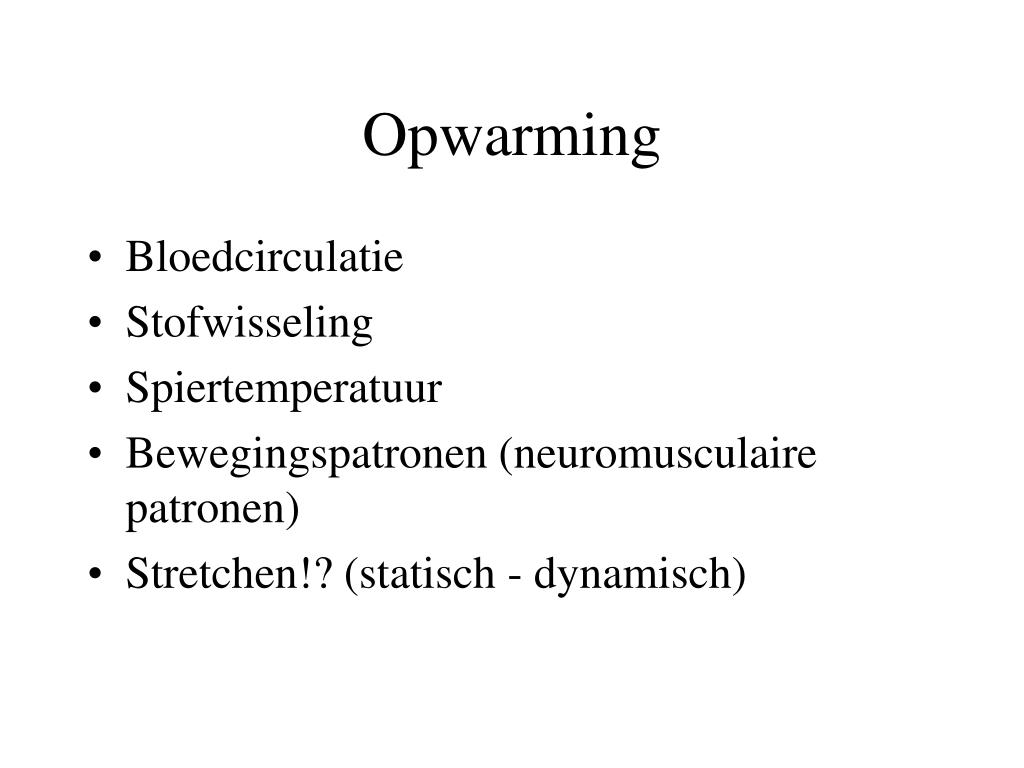 Opwarming