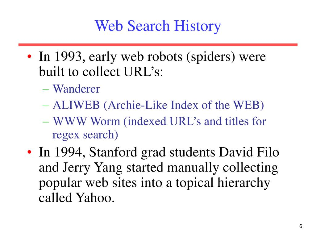 Web Search History