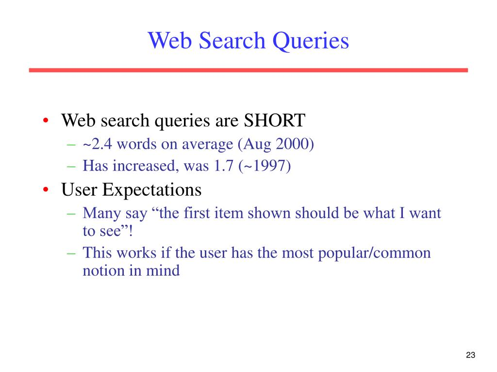 Web Search Queries