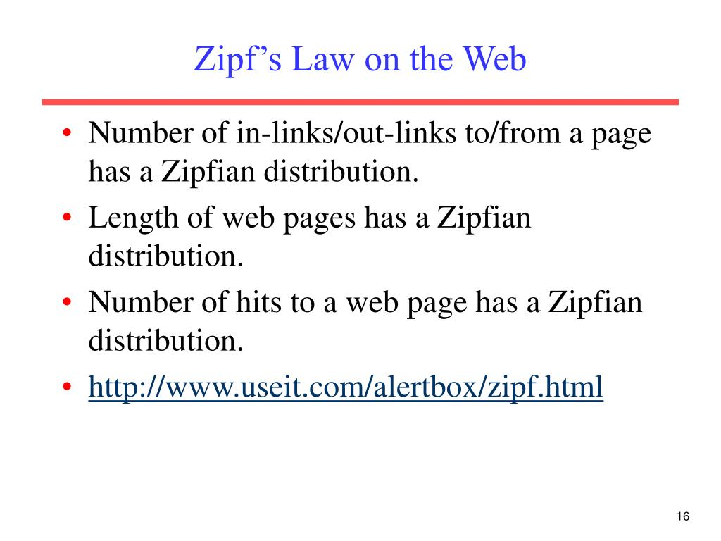 Zipf's Law on the Web