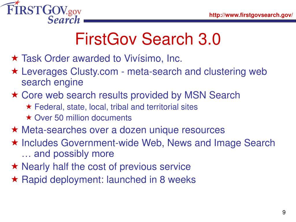 FirstGov Search 3.0