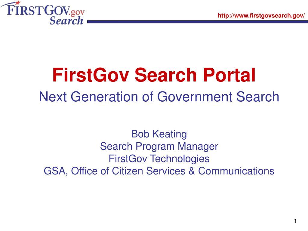 FirstGov Search Portal