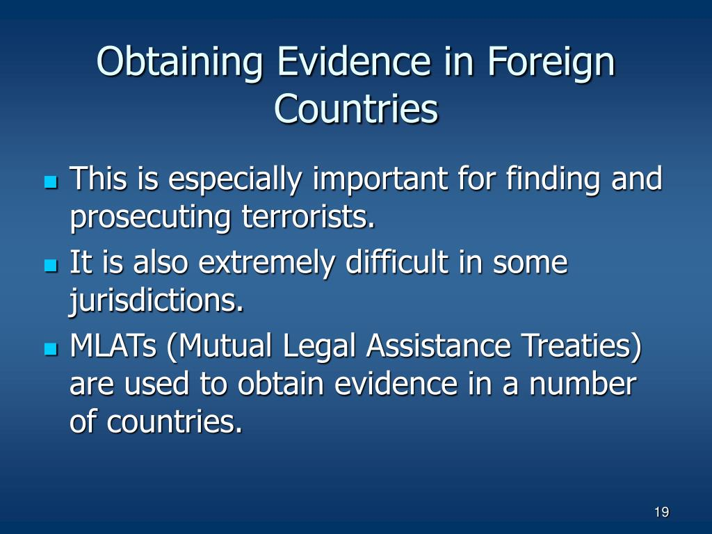 Obtaining Evidence in Foreign Countries