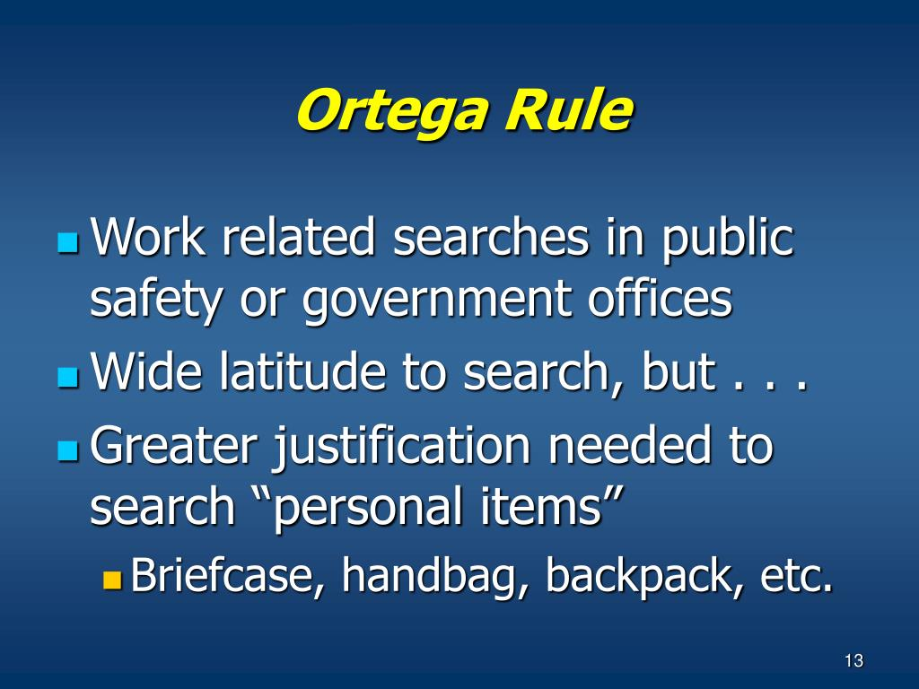 Ortega Rule